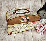 Krabičky - Vintage truhlička - 8772888_
