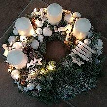 Dekorácie - Adventný veniec so svetielkami - 8773944_