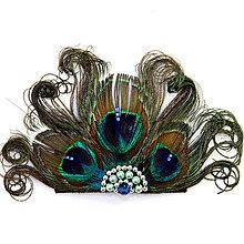 Ozdoby do vlasov - Fascinátor z pávieho peria - 8773049_