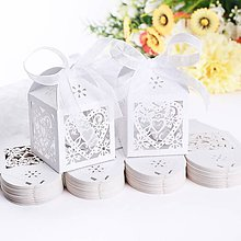 Darčeky pre svadobčanov - Svadobné krabičky pre hostí - 8773848_