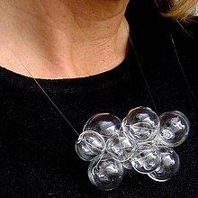 Sady šperkov - Živá voda na priehľadnom lanku - 8774746_