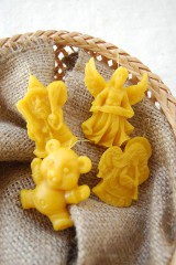 - Vianočná ozdoba z včelieho vosku (anjel s glóriou) - 8776434_