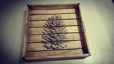 Nádoby - Drevená vianočná tácka s podložkami - ZNÍŽENÁ CENA *** - 8775391_