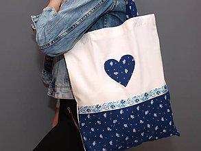 Nákupné tašky - ..taška modrotlač... - 8771770_