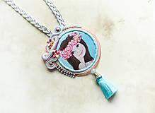 Náhrdelníky - Zasnená - šujtášový náhrdelník - 8775670_