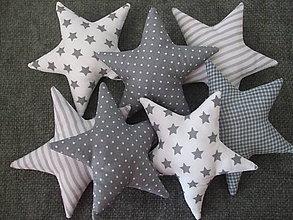 Dekorácie - Hviezda, hviezdička (Šedá) - 8775024_