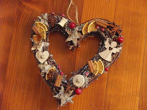 Ľadové vianočné srdce 25 cm