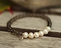 - Ag 925 náramok záhneda a riečne perly - 8771866_