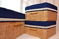 Košíky - Kráľovsky modré boxy / ks - 8773366_