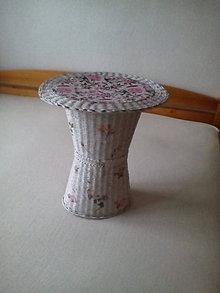 Košíky - Pletený stolík - 8774692_