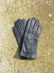 Rukavice - Šedé dámské rukavice s vlněnou podšívkou. - 8774621_