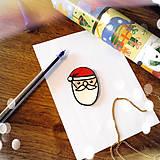 Magnetky - ★ Vianočná magnetka cartoon (Santa Claus) - 8772299_