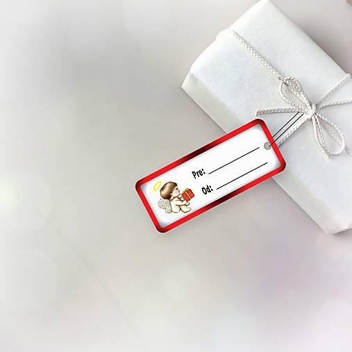 Vianočná menovka (anjelik a vianočný darček)