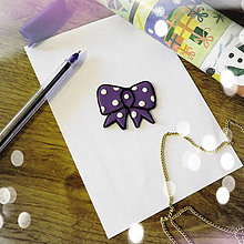 Magnetky - ★ Vianočná magnetka cartoon - mašlička - 8772272_