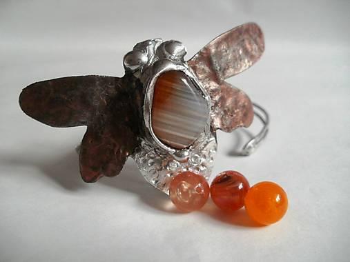 Čmeliak - farebný achát, tiffany