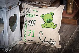 """Úžitkový textil - Vankúšik pre novorodenca """"Sebastián"""" - 8779669_"""