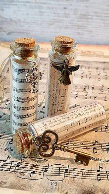 Dekorácie - Vianočné fľaštičky - sada 3ks - 8779221_