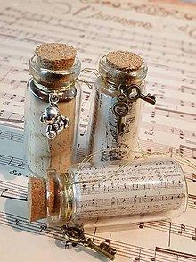 Dekorácie - Vianočné fľaštičky - stredné - 8779306_