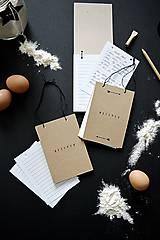 Papiernictvo - Mini receptáre - natur - 8777990_