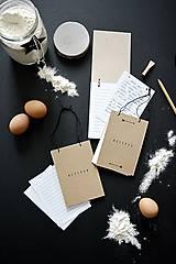 Papiernictvo - Mini receptáre - natur - 8777992_