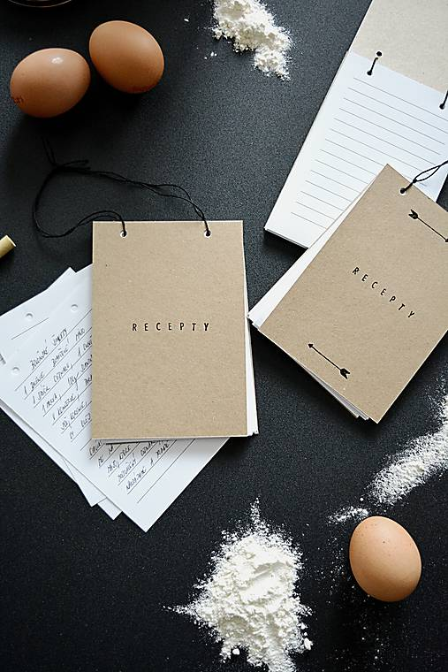 Papiernictvo - Mini receptáre - natur - 8777991_