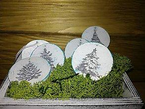 Dekorácie - Vianočné drevené dukáty - 8777640_