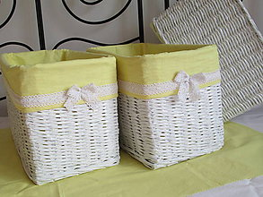 Košíky - Košíky - Biele v žltej košieľke - 8778541_