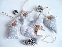 Vianočné ozdoby  šedo-biele