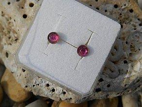 Náušnice - turmalina mágico rosa-naušnice-turmalín - 8781747_