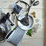 Náhrdelníky - Black Silver - sutaškový náhrdelník - 8781089_