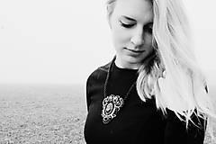 Náhrdelníky - Black Silver - sutaškový náhrdelník - 8781091_