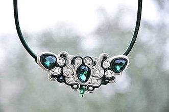 Náhrdelníky - Liza - šujtášový náhrdelník - 8780745_