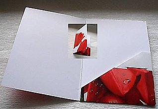 Papier - záložka a karta tulipány - 8777497_