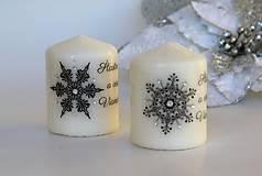 Svietidlá a sviečky - Duo vianočných sviečok 2 - 8780451_