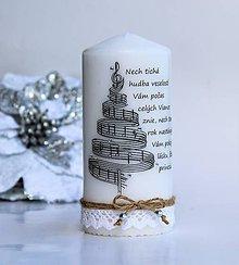 Svietidlá a sviečky - Dekoračná sviečka - vianočná 1 - 8780351_