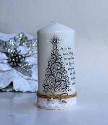 Svietidlá a sviečky - Dekoračná sviečka vianočná 2 - 8780373_