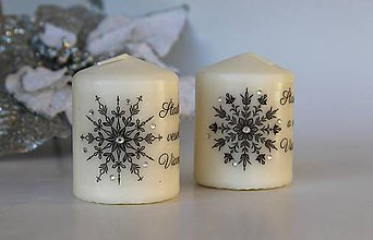 Svietidlá a sviečky - Duo vianočných sviečok 1 - 8780412_