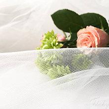 Textil - jemný padavý tyl slonovinová kosť, šírka 275 cm, cena za 0,5 m - 8779254_