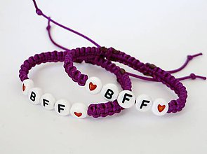 Náramky - Best friends forever (fialová tmavá) - 8781590_