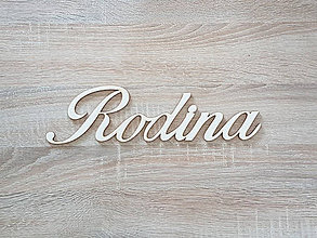 Polotovary - Nápis Rodina 33x9 cm - 8780779_