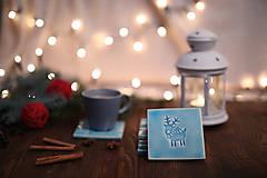 Dekorácie - Keramické podšálky s vianočnými motívmi - 8780398_