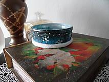Svietidlá a sviečky - svietničky (Modrá) - 8778726_