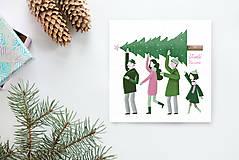 Grafika - Vianočná pohľadnica - 8779142_