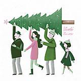 Grafika - Vianočná pohľadnica - 8779149_