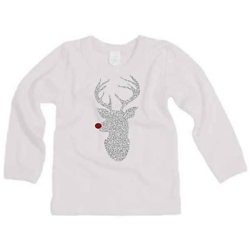 c2b8078998c0 Vianočné tričko s trblietavým sobíkom   ele-ele - SAShE.sk ...
