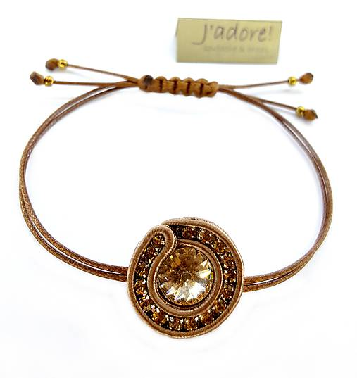 Mini soutache náramok (meď/bronzový)