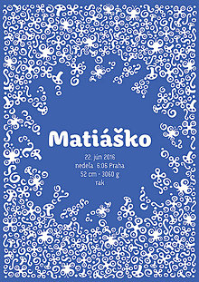 Detské doplnky - Personalizovaný obrázok - Slniečkové (Modrá) - 8782025_