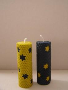 Svietidlá a sviečky - Vianočná sviečka hviezdičková - 8778108_