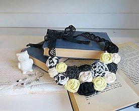 Sady šperkov - Žltá tajomná sada - náhrdelník, náušnice - 8779620_