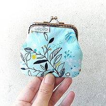 Peňaženky - Peňaženka mini Grafické kvietky - 8777237_
